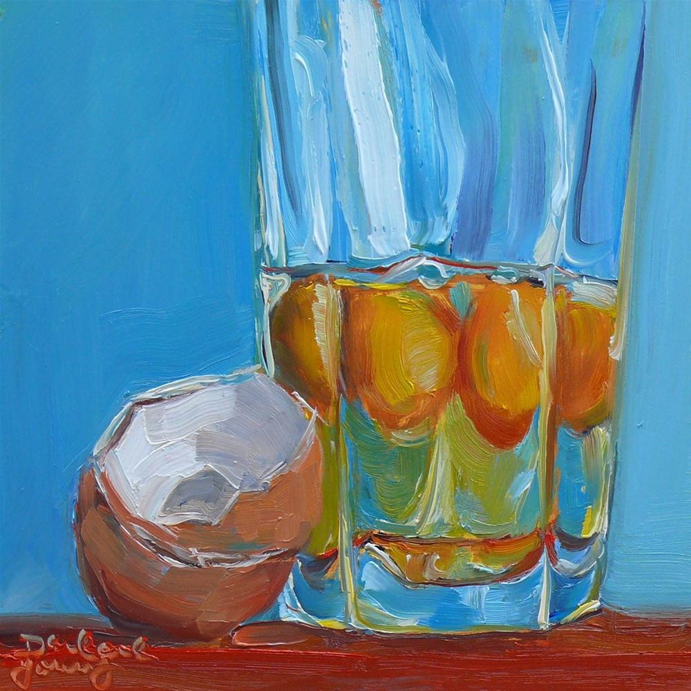 """614 Bottoms Up!"" original fine art by Darlene Young"