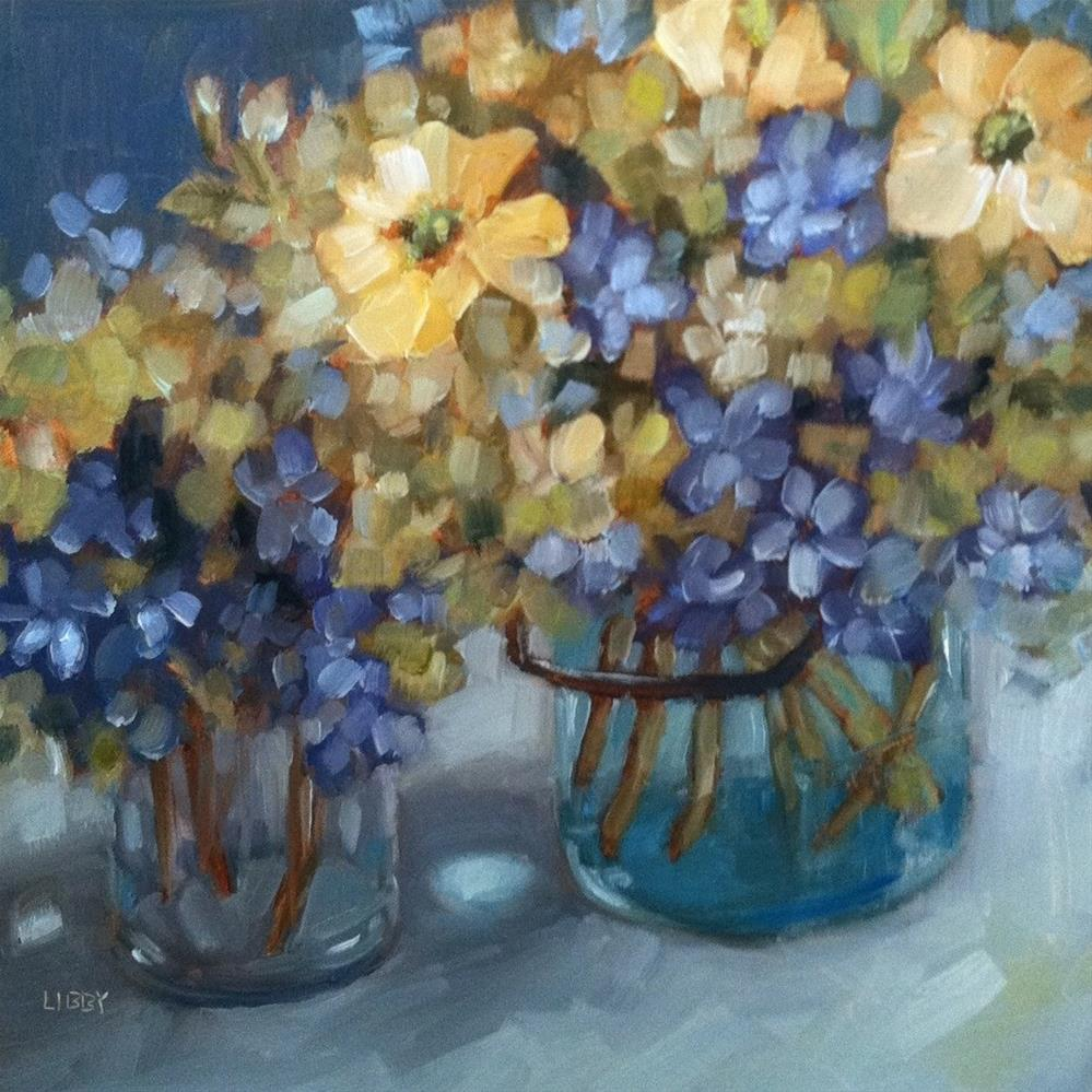 """""""Old Fashioned Bouquets"""" original fine art by Libby Anderson"""