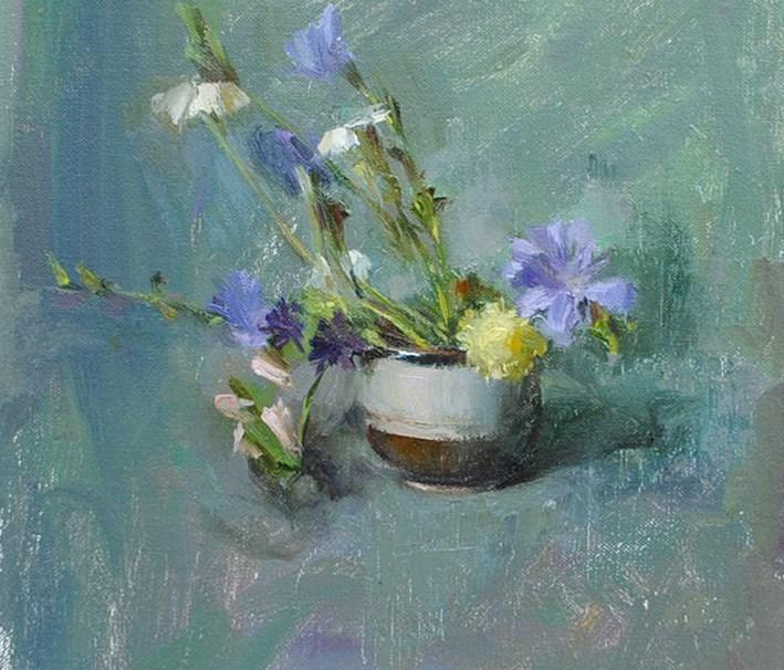"""quiet still life"" original fine art by Taisia Kuklina"