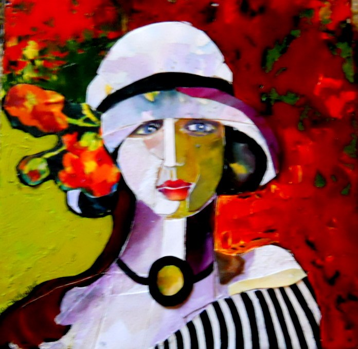 """Lady in Pieces"" original fine art by Laurie Mueller"
