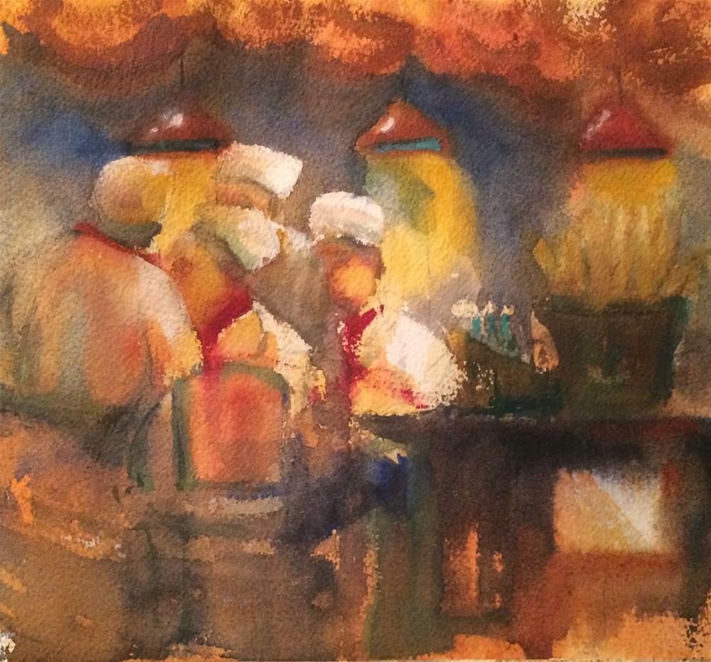 """""""South Beach Heat!"""" original fine art by Katharine Engh"""