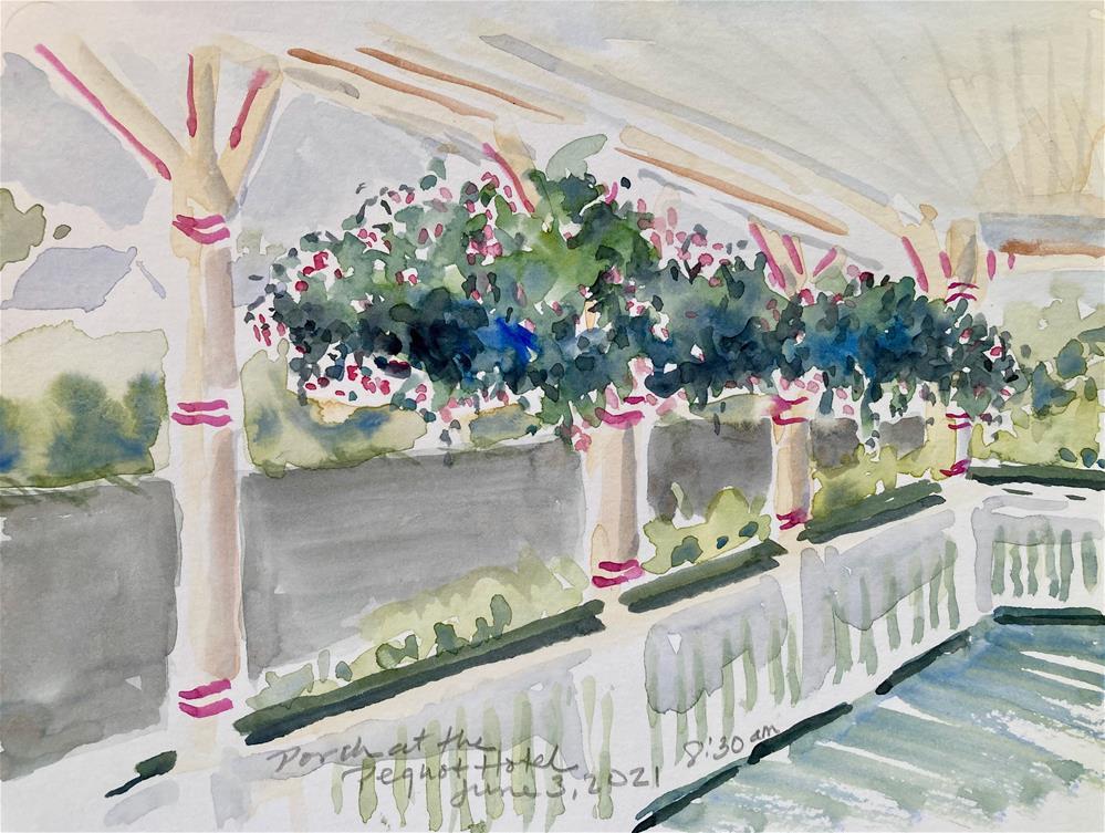 """Front Porch"" original fine art by Judith Freeman Clark"