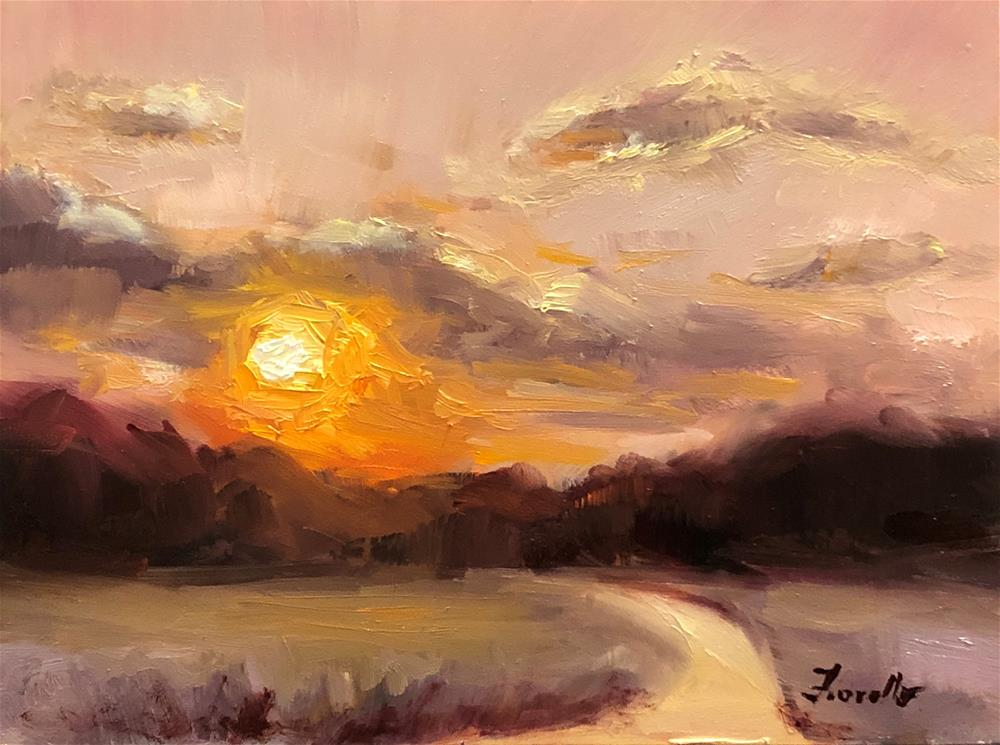 """Sunset II"" original fine art by Pat Fiorello"