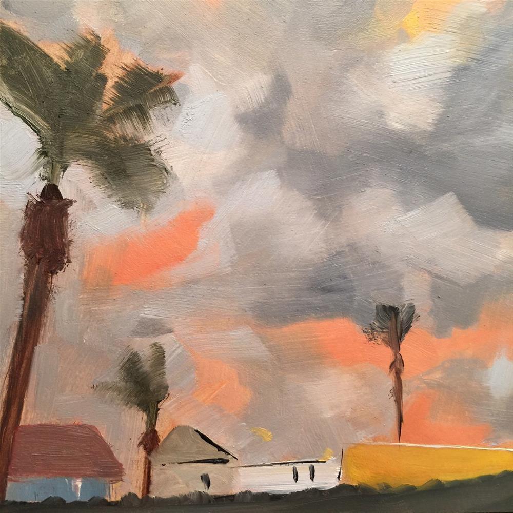 """""""126 Patchwork Sky"""" original fine art by Jenny Doh"""