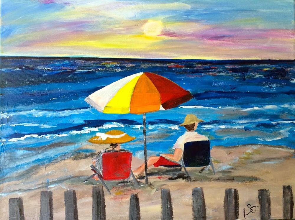 """Ocean Watching"" original fine art by Kimberly Balentine"