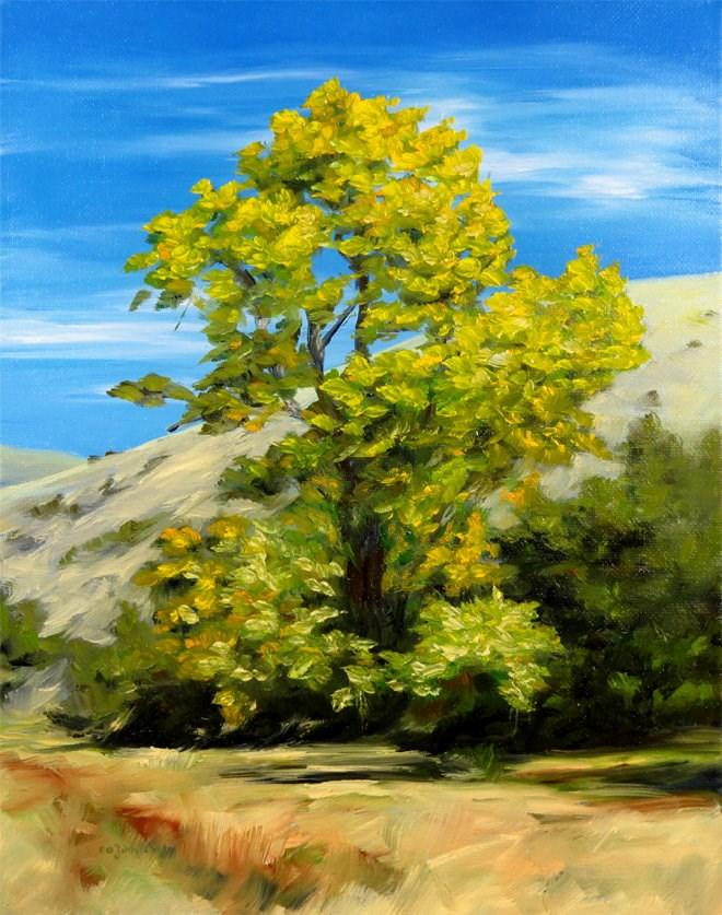 """""""Breezy Leaves"""" original fine art by Carol Zirkle"""