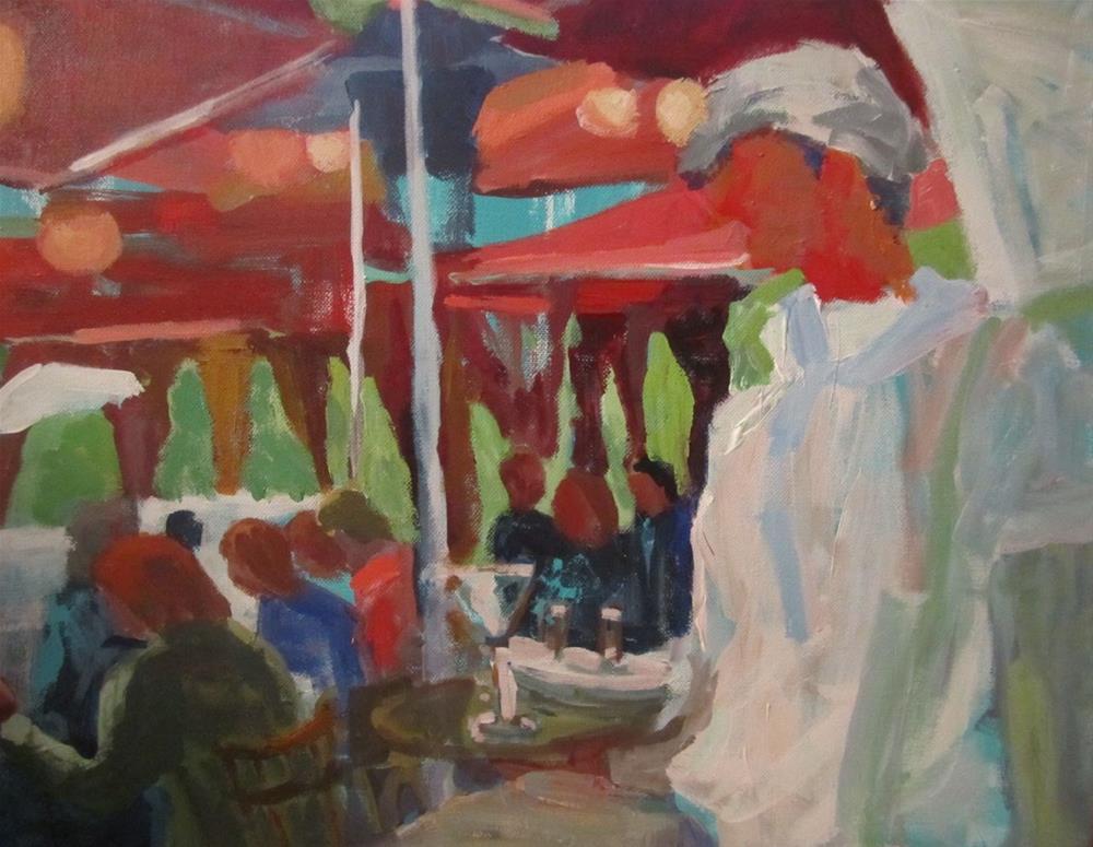 """""""Montmartre Cafe-Paris"""" original fine art by Christine Parker"""