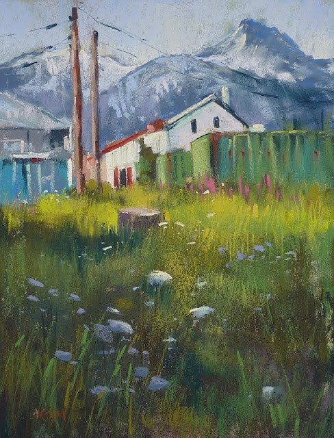 """""""New Video Demo Release: Tips for Adding Structures to Your Landscape Paintings"""" original fine art by Karen Margulis"""