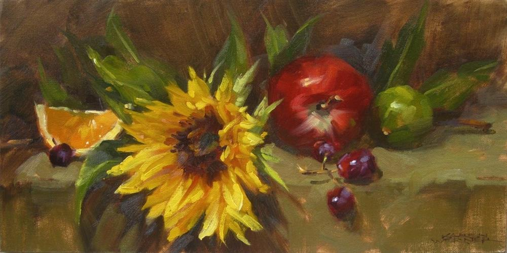 """Still Life With Sunflower"" original fine art by Karen Werner"