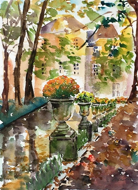 """Fall in Paris"" original fine art by Lisa Fu"