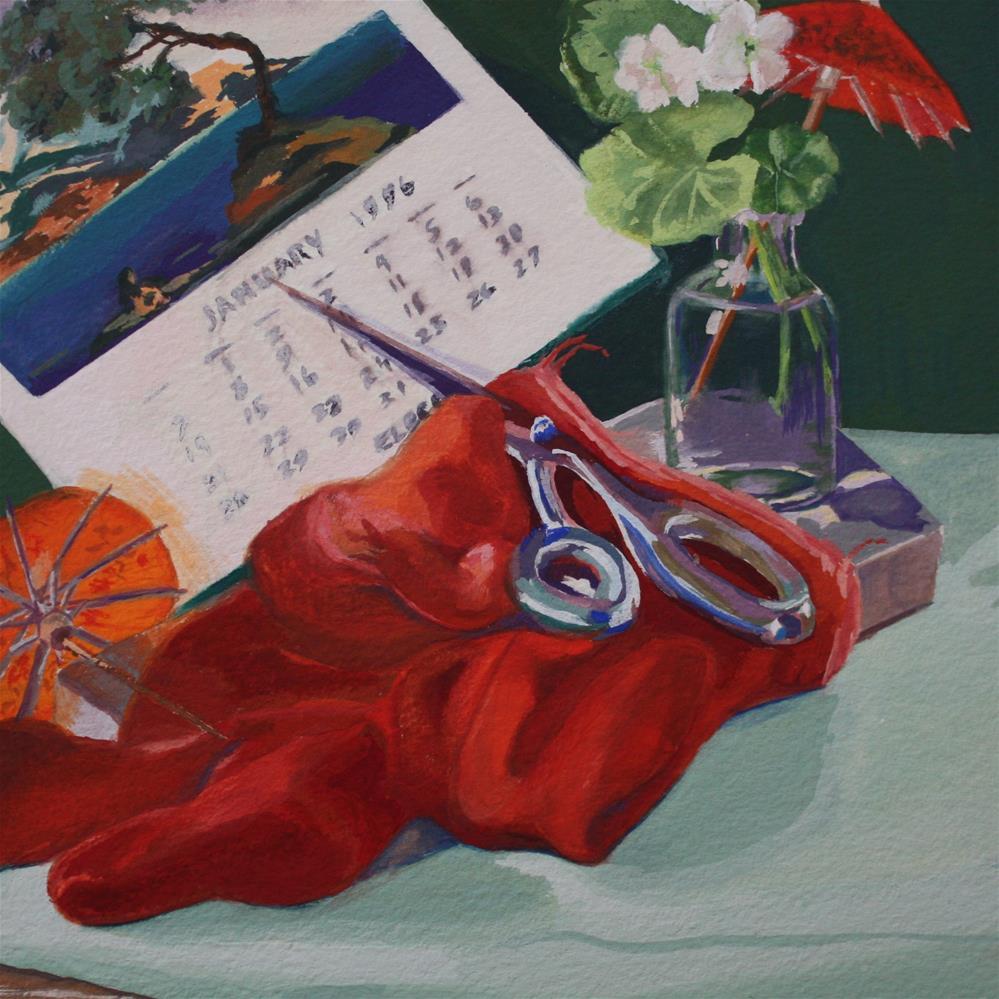 """""""Scissors"""" original fine art by Pamela Sweet"""