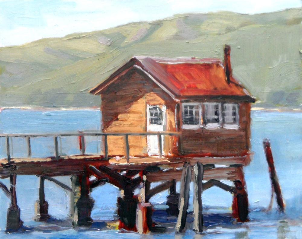 """Nick's Cove"" original fine art by Deborah Newman"