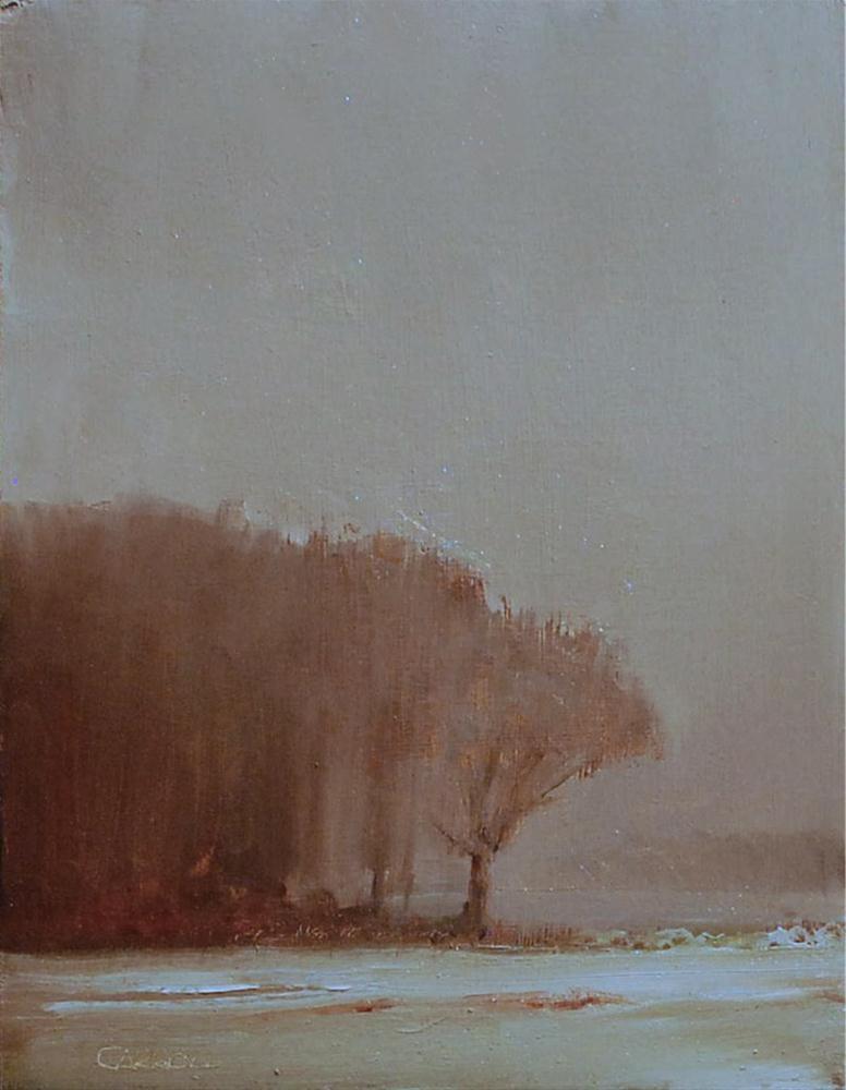 """Cold Day Ahead - study"" original fine art by Neil Carroll"