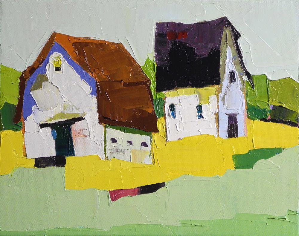 """Farm Pair"" original fine art by Donna Walker"