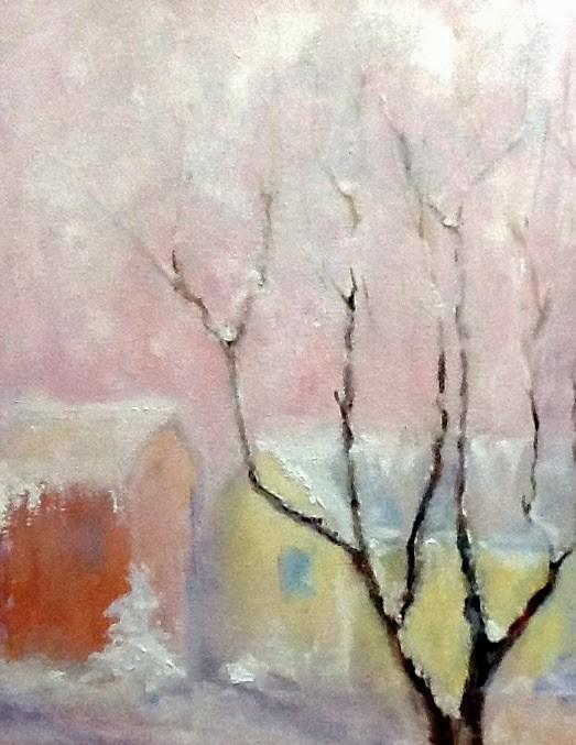 """Wish You Were Here"" original fine art by Peggy Schumm"