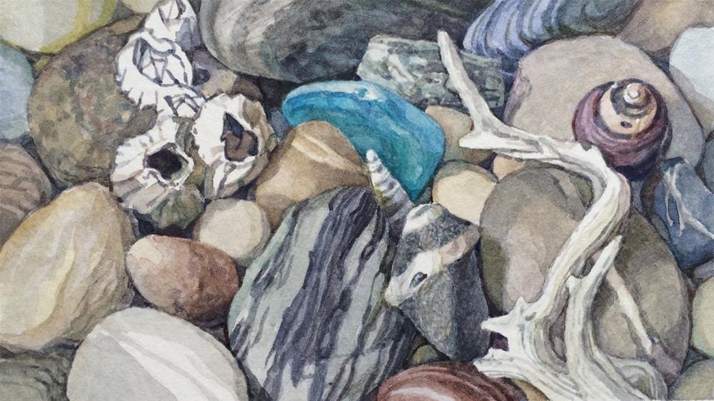 """Beaches Little Blues (framed)"" original fine art by Nicoletta Baumeister"