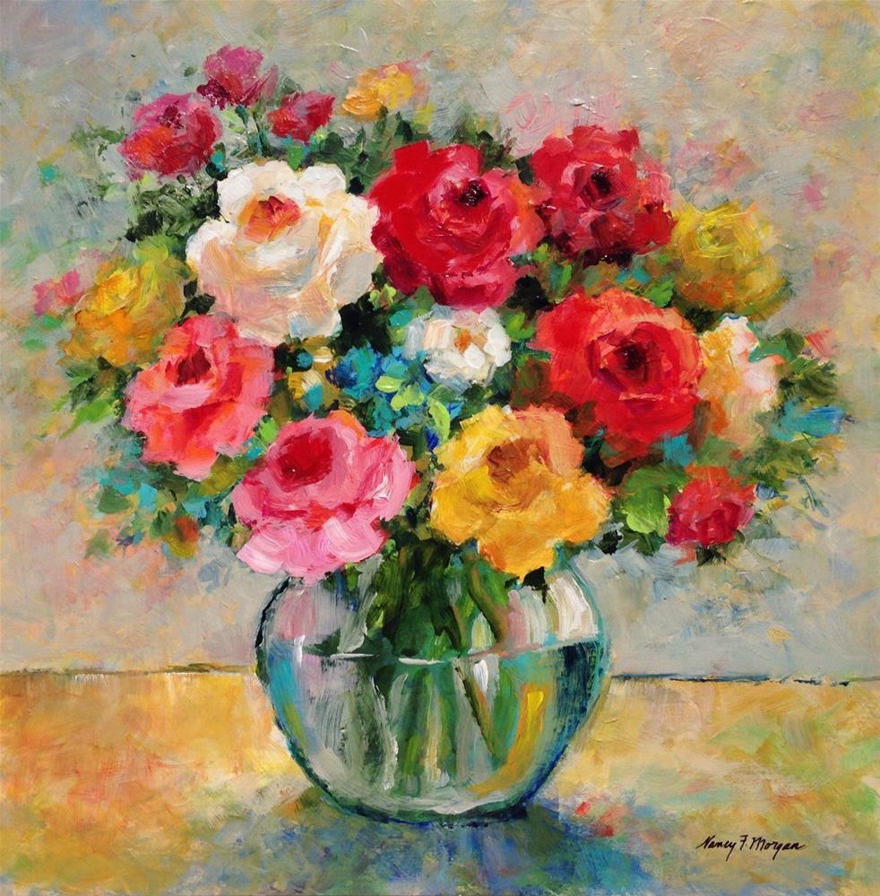 """Sunday Roses"" original fine art by Nancy F. Morgan"