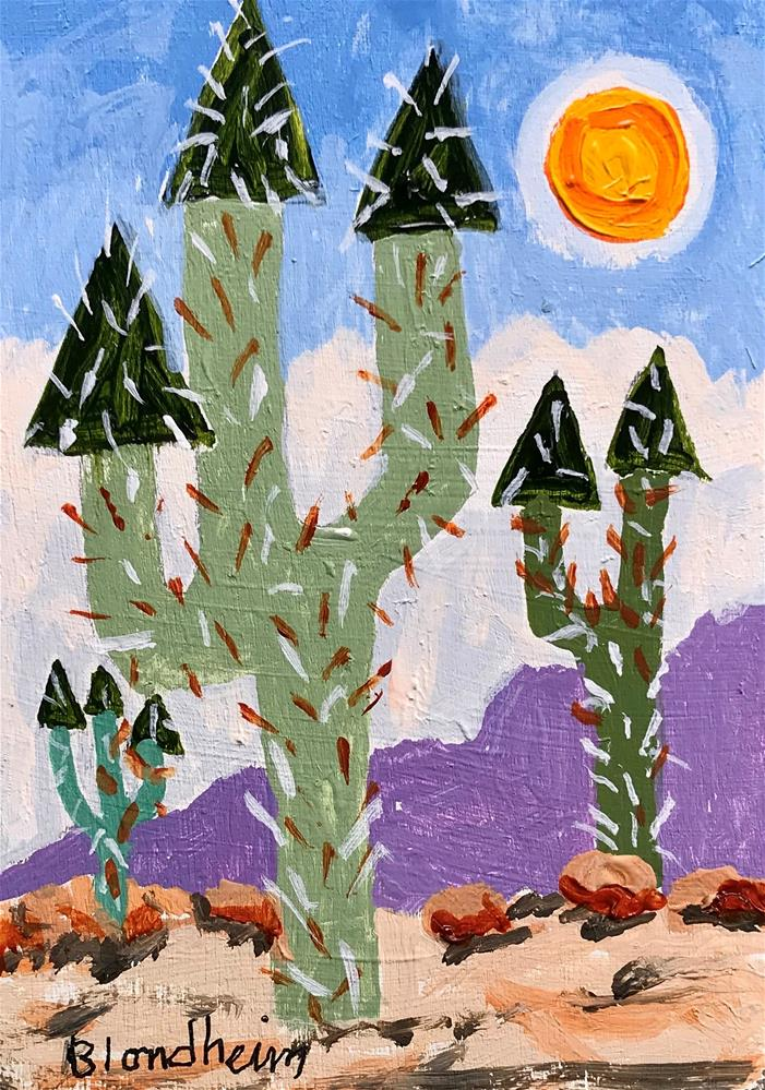 """Tree Toons Desert Trees"" original fine art by Linda Blondheim"