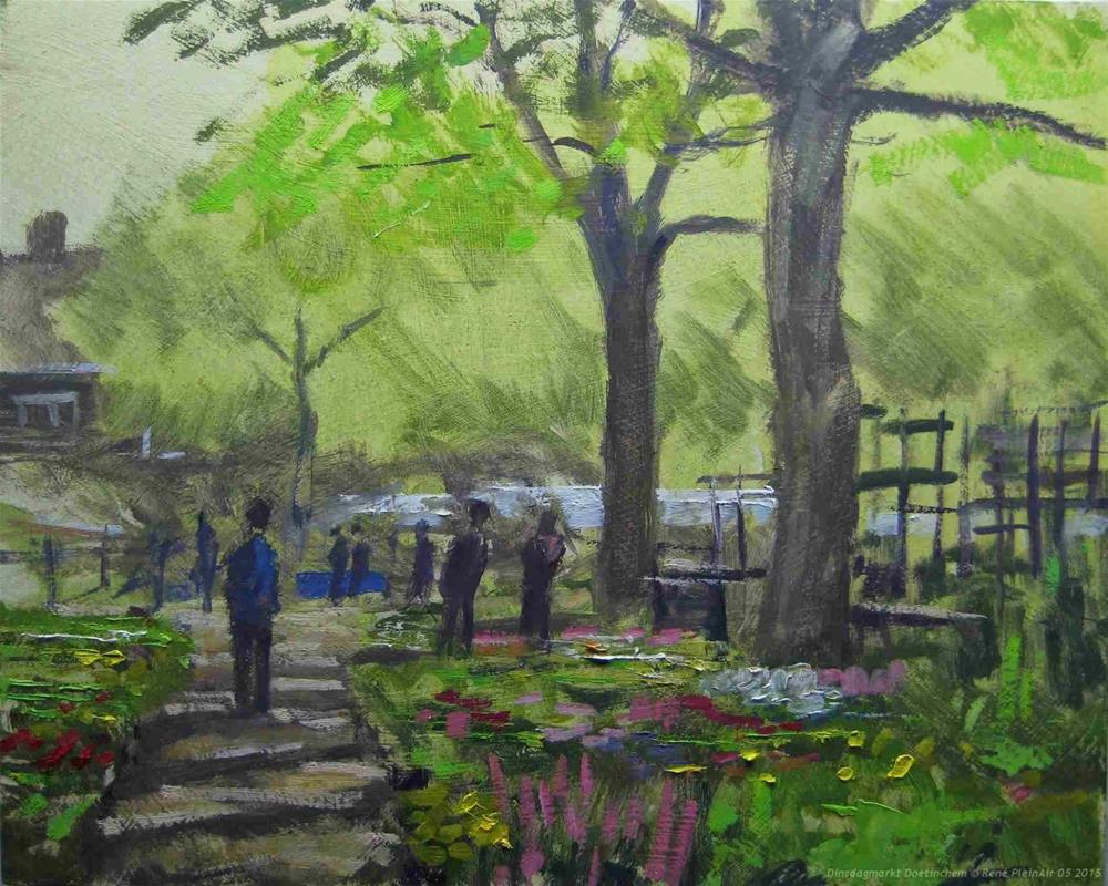 """Flowermarket. Doetinchem, The Netherlands."" original fine art by René PleinAir"