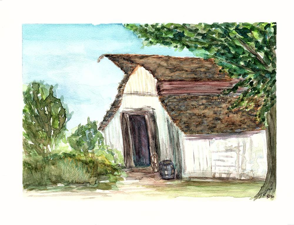 """Old Barn at Jessie's Grove"" original fine art by Laura Denning"