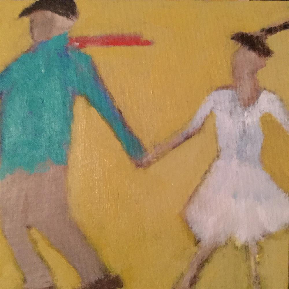 """Walking my baby back home"" original fine art by pamela kish"