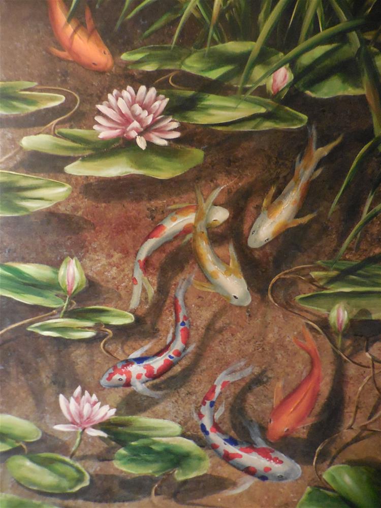 """Koi Pond"" original fine art by Terri Nicholson"