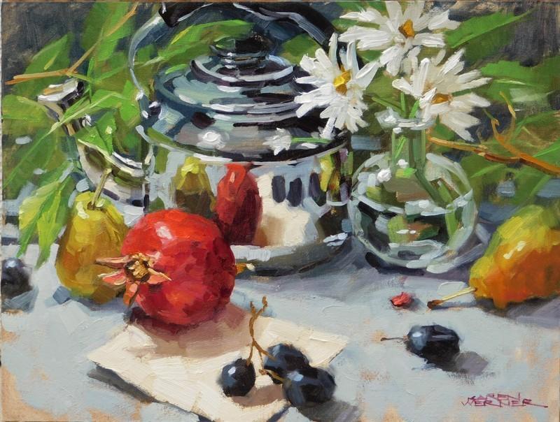 """""""Kettle & Color"""" original fine art by Karen Werner"""