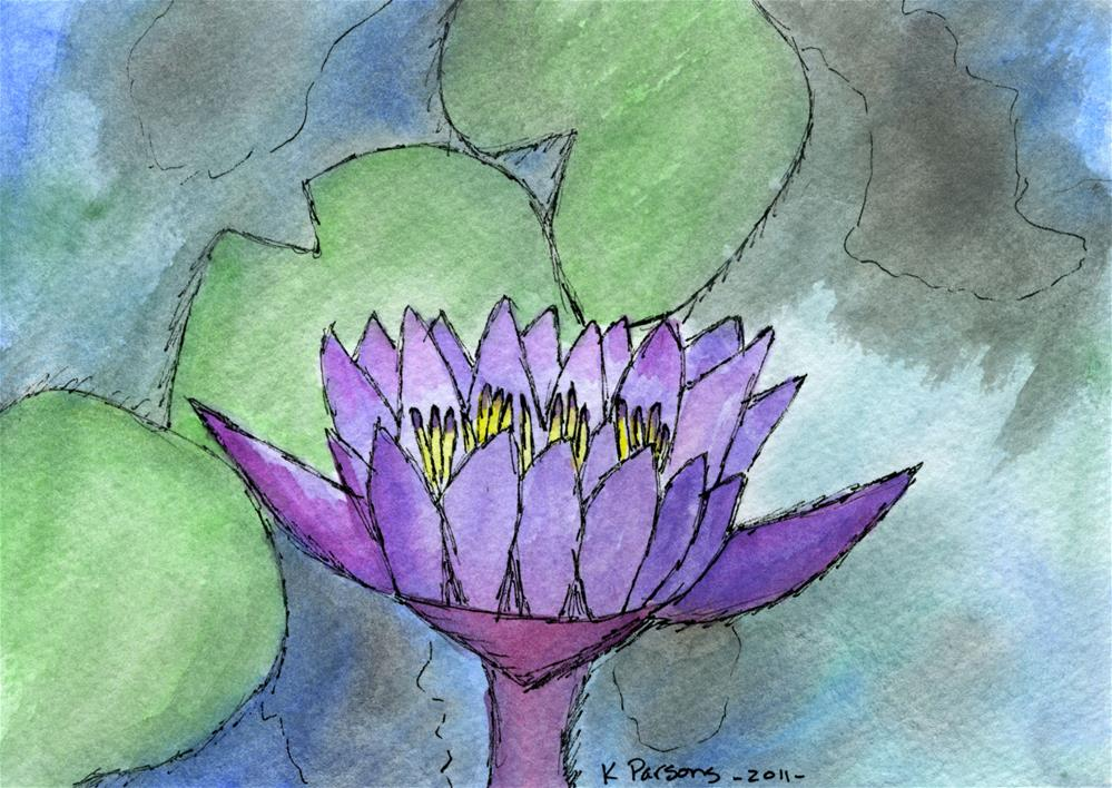 """""""Lily of the Pond"""" original fine art by Kali Parsons"""
