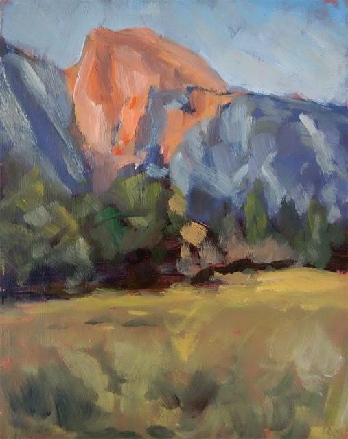 """Half Dome At Sunset"" original fine art by J. Farnsworth"