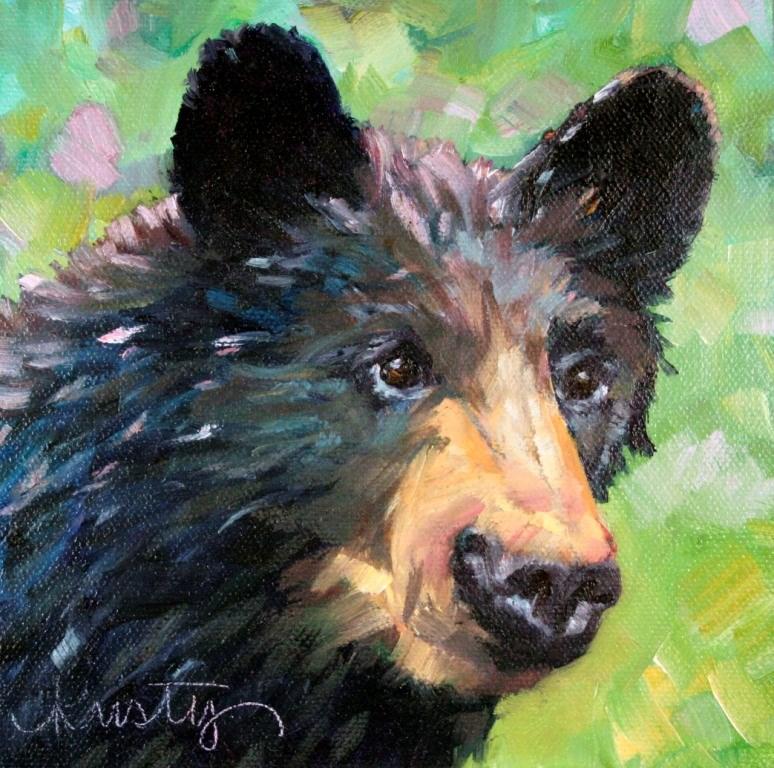 """""""BLACK BEAR"""" original fine art by Kristy Tracy"""
