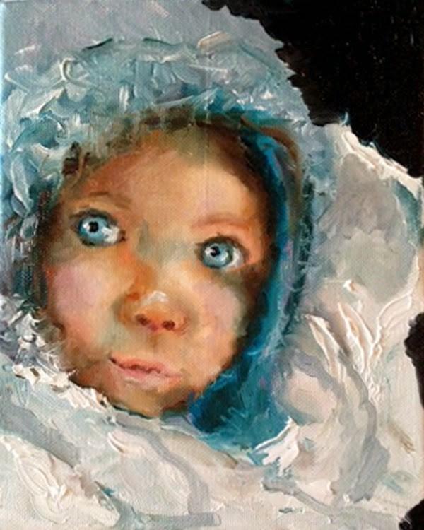 """My Blankey"" original fine art by Marcia Hodges"