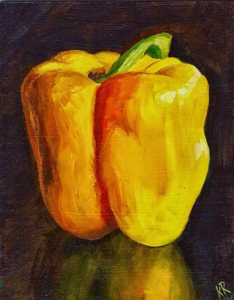 """Yellow 1"" original fine art by Karen Robinson"