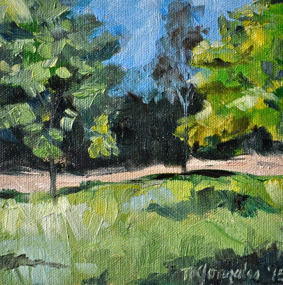 """""""Greens and Blues"""" original fine art by Theresa Gonzales"""
