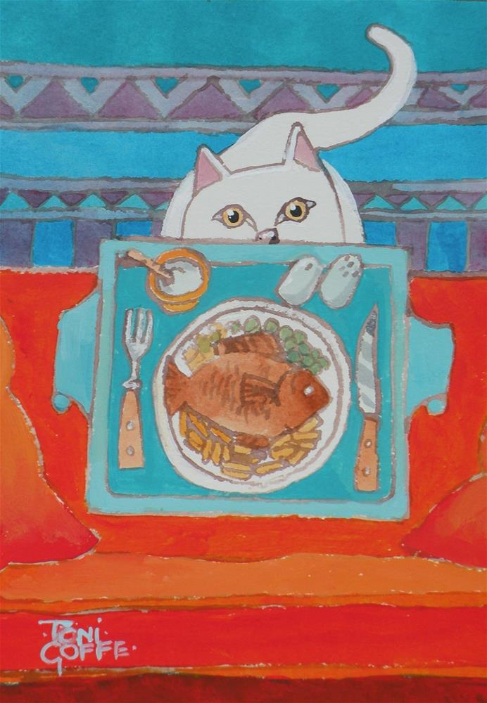 """Suppertime"" original fine art by Toni Goffe"