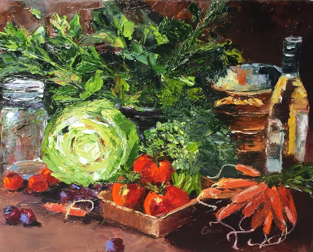 """Fresh From the Market"" original fine art by Elaine Ford"