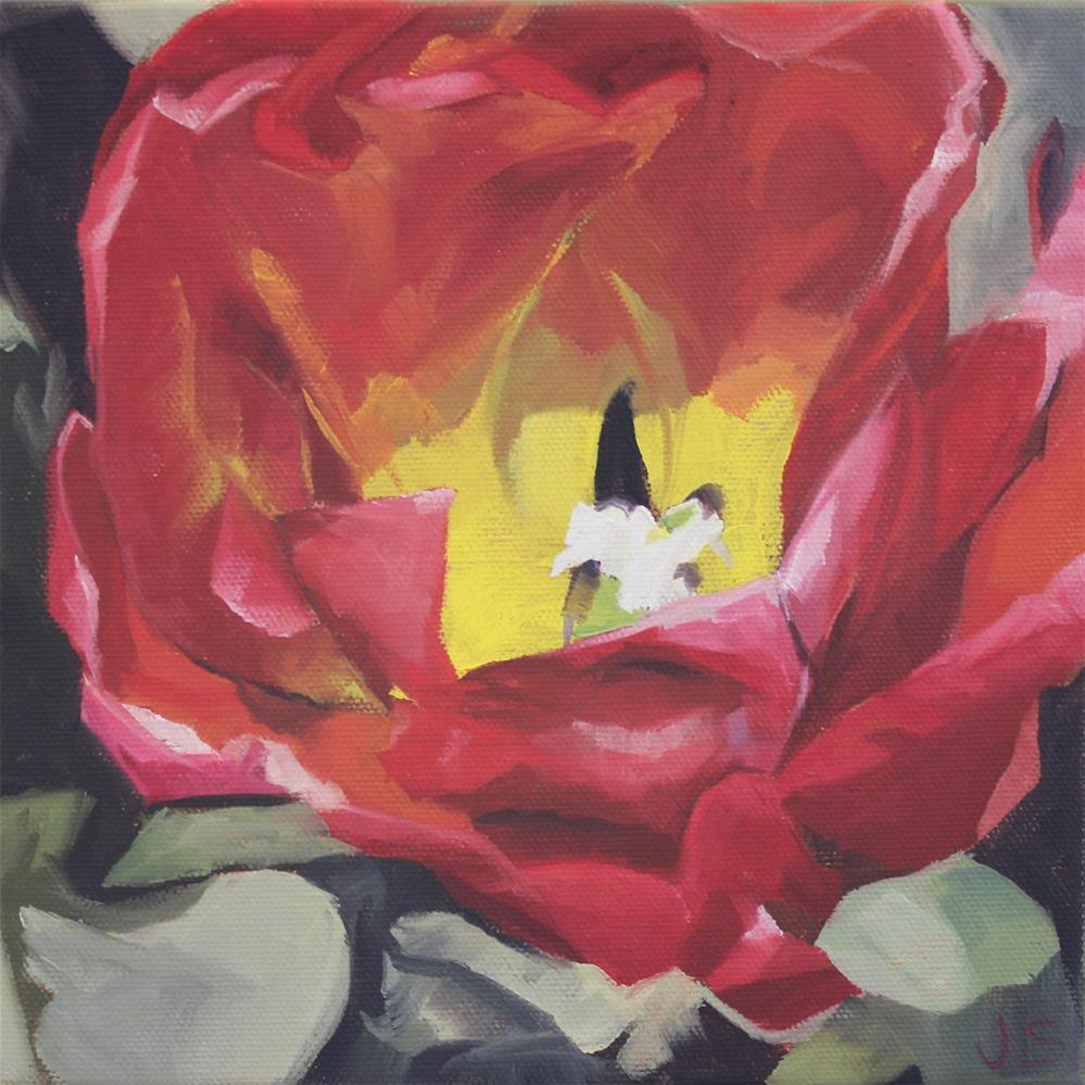 """Shadowed Tulip"" original fine art by Jamie Stevens"