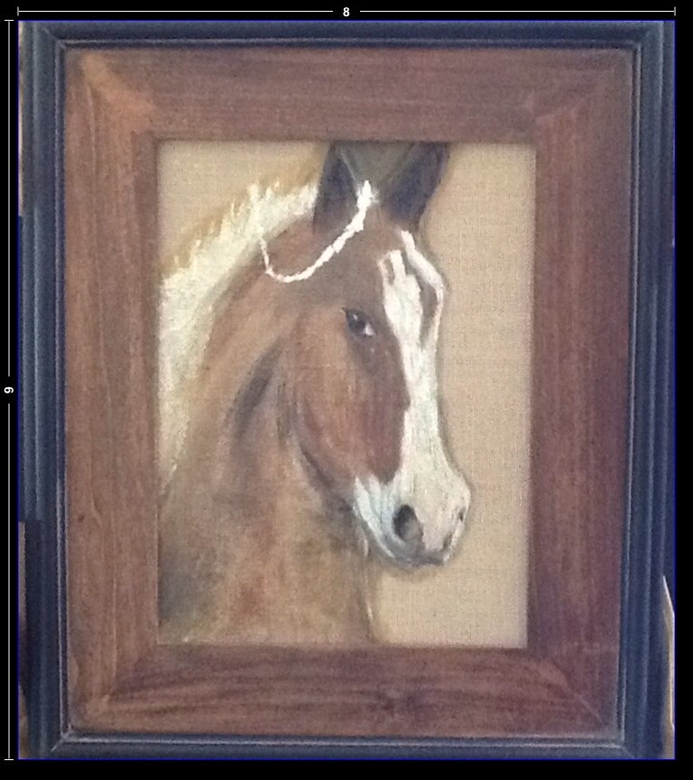 """PAMPERED PUREBRED"" original fine art by Charlotte Bankhead Hedrick"
