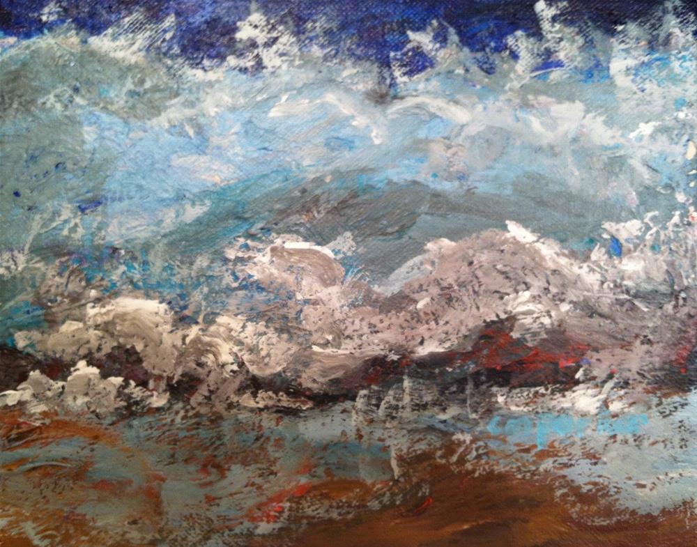"""Wave"" original fine art by Christine Parker"