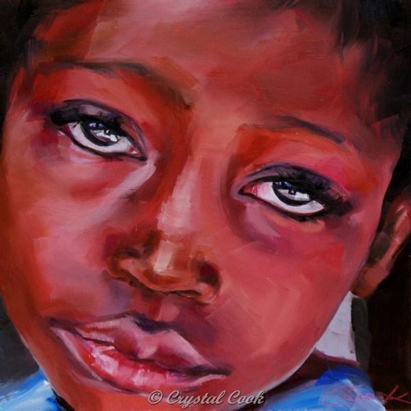 """No Sunshine"" original fine art by Crystal Cook"
