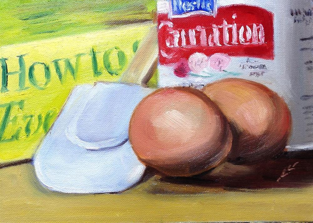 """My Turn to Cook"" original fine art by Linda Lowery"