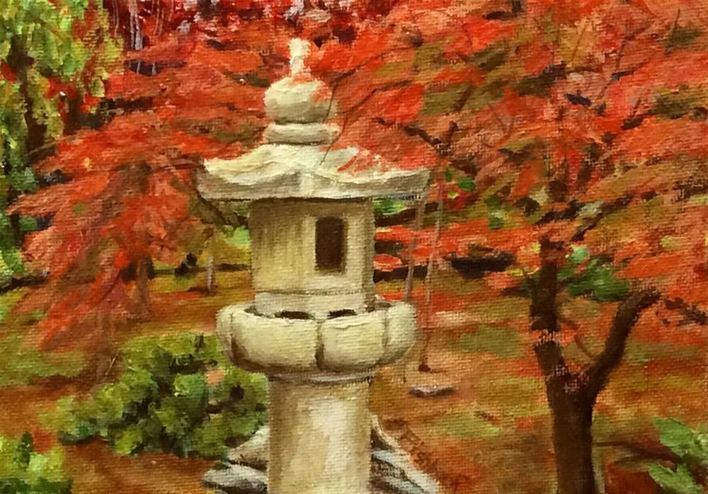 """Japanese Garden"" original fine art by Daniel Fishback"