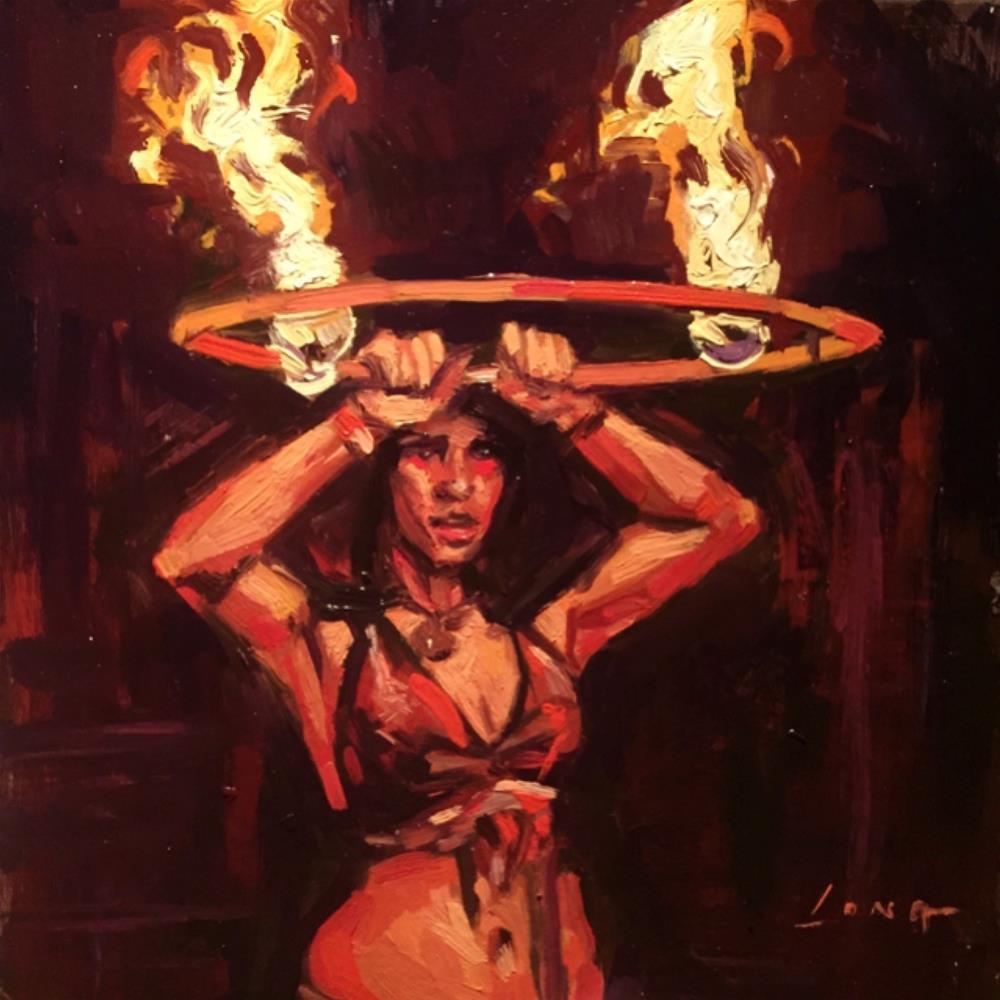 """""""Fire Dance"""" original fine art by Chris Long"""