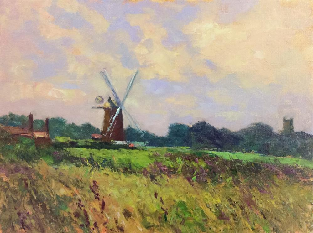 """""""Cley Mill"""" original fine art by John Shave"""