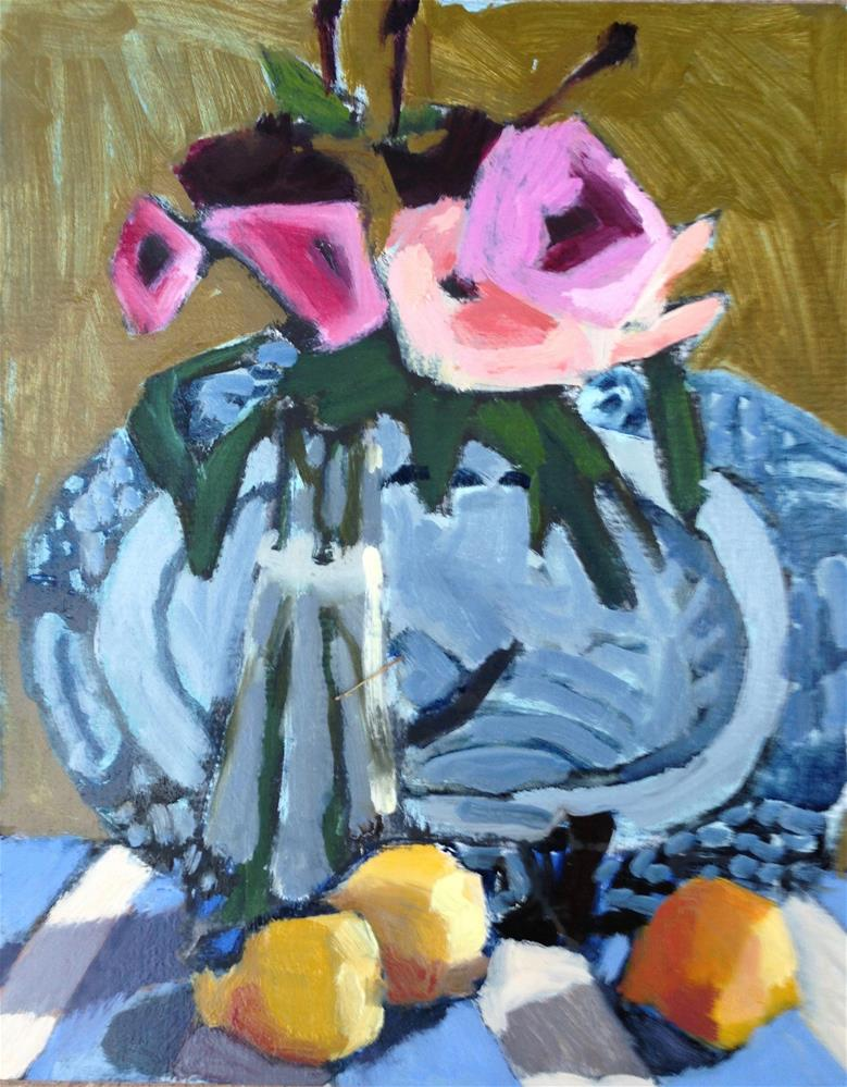 """Days of Lemons and Roses"" original fine art by Pamela Hoffmeister"