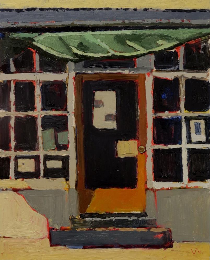 """Sunken Well Tavern"" original fine art by Joan Wiberg"