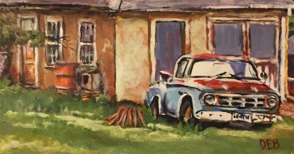 """Home Again"" original fine art by Debbie Yacenda"