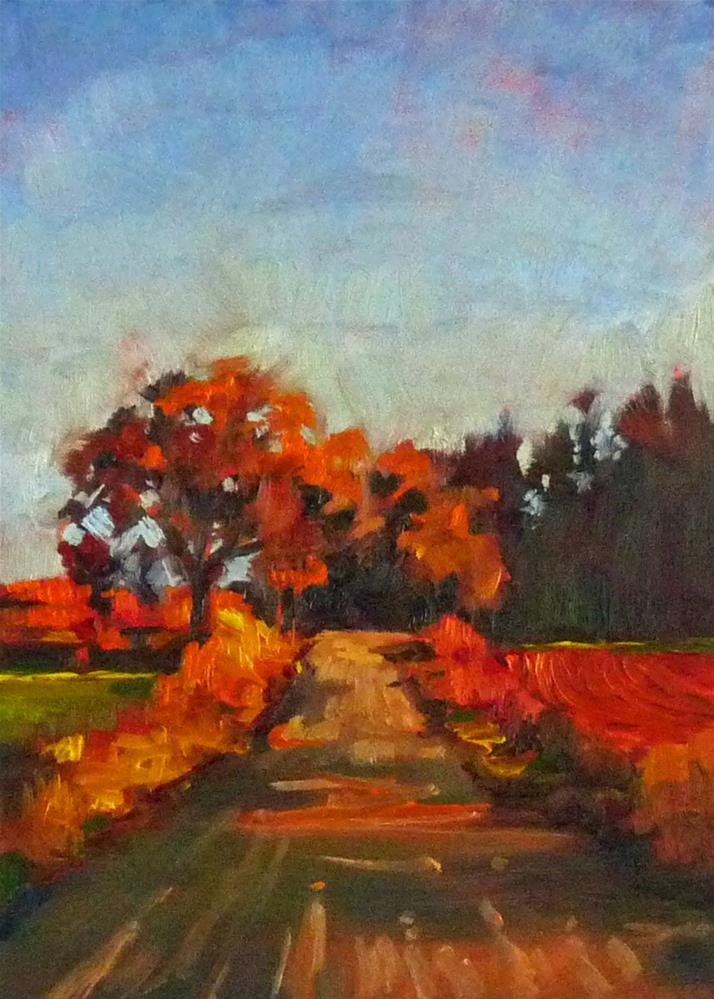 """""""The Road Home"""" original fine art by Sharman Owings"""