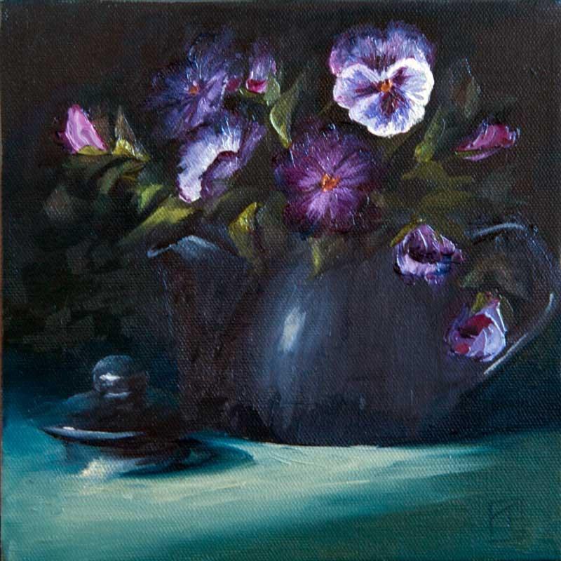 """Pansy Tea"" original fine art by Lori Twiggs"