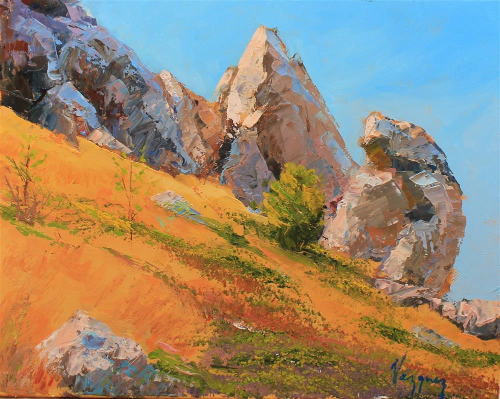 """""""Landscape with rocks."""" original fine art by Marco Vazquez"""