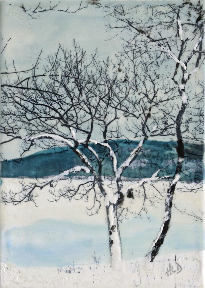 """Winter Trees at Rockland Lake"" original fine art by Heather Douglas"